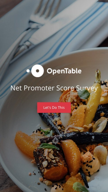 Survey opentable 1