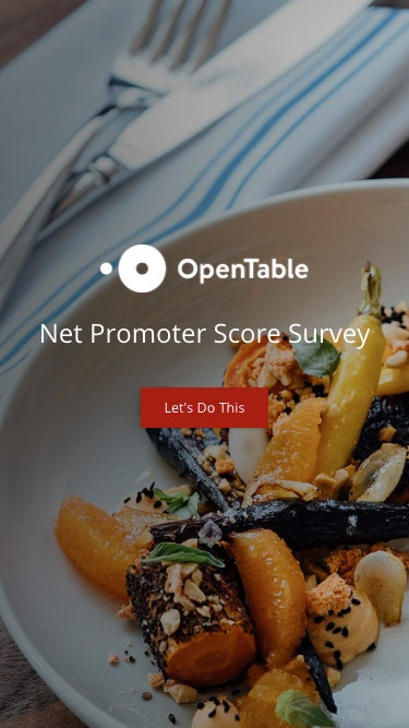 Survey opentable 2